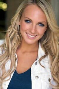 Portrait of pretty actress