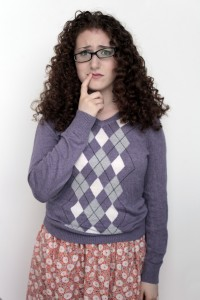 girl, crooked, glasses, nerd